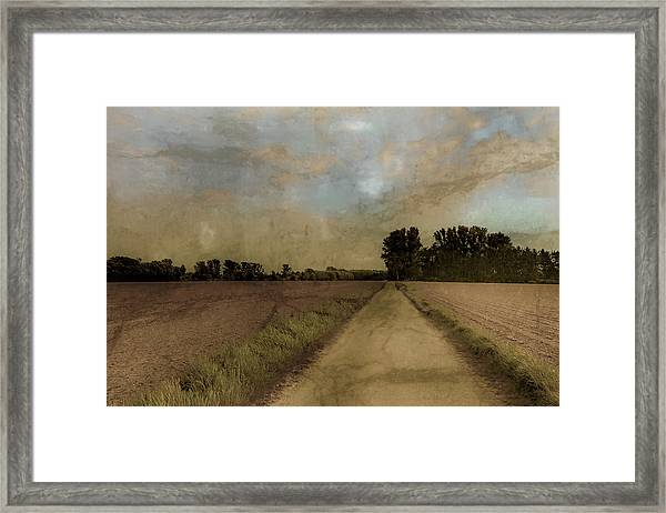 Framed Print featuring the photograph Juchen, Germany - Path To Glehn by Mark Forte