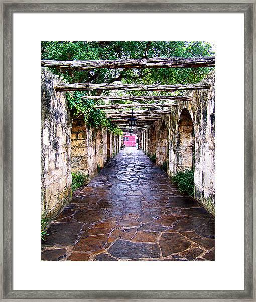 Path To The Alamo Framed Print