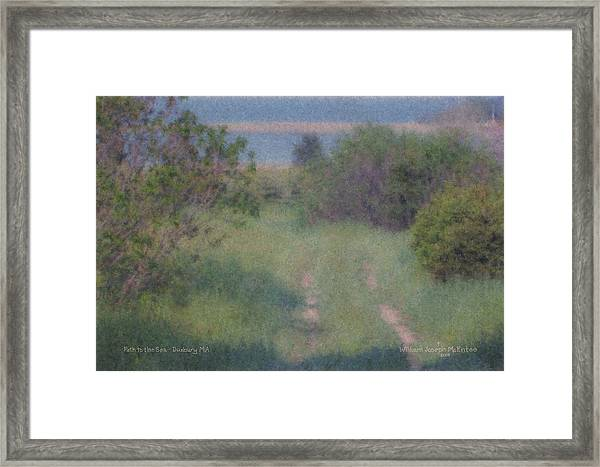 Path To The Sea - Duxbury Ma Framed Print