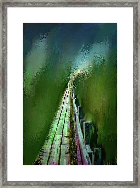 Path To The Unknown #h5 Framed Print
