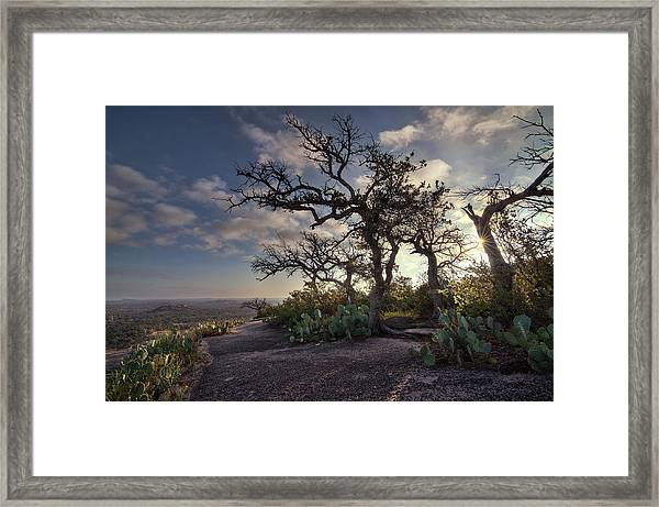 Pathway On Top Of Enchanted Rock Framed Print