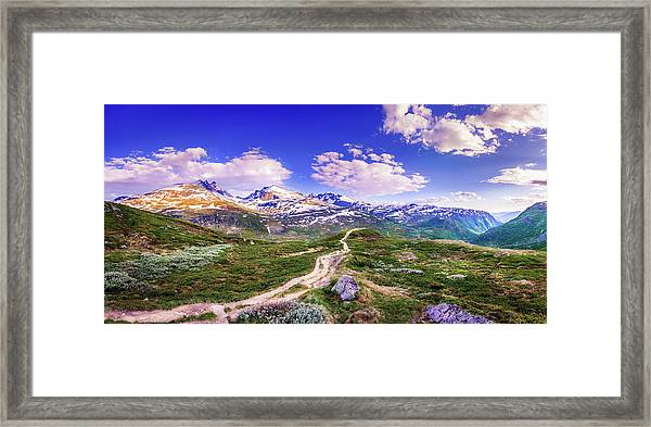 Pathway To A Valley Framed Print