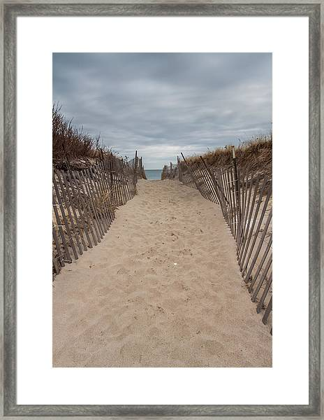 Pathway To The Beach Framed Print