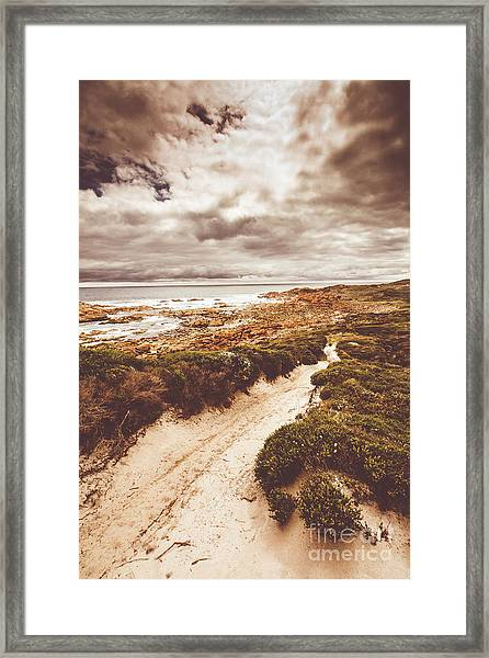 Pathways To Seaside Paradise Framed Print