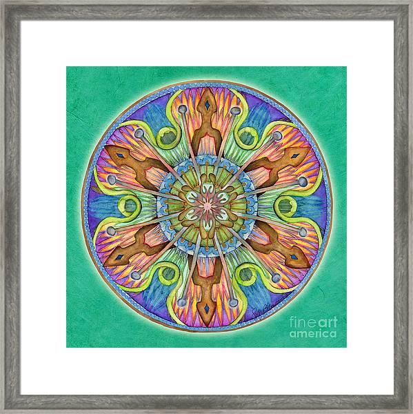 Patience Mandala Framed Print
