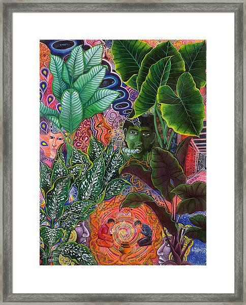 Framed Print featuring the painting Patinguina Samai  by Pablo Amaringo