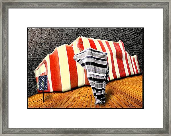 Patriot Sack Framed Print