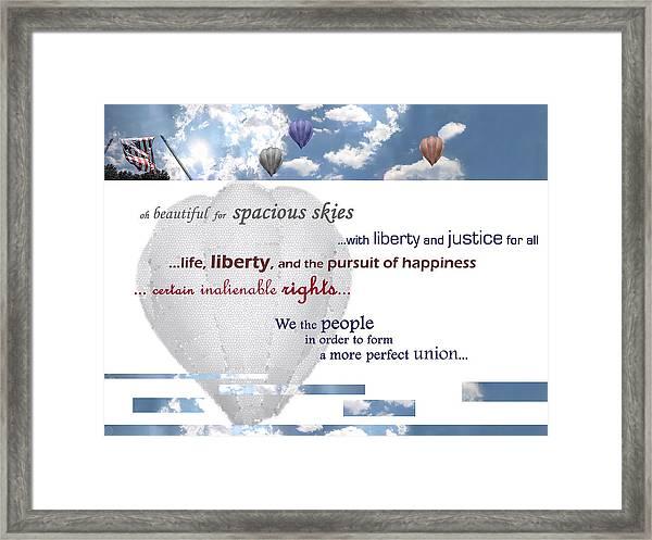 Patriotic Art I Framed Print