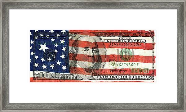 Patriotic Benjamin Framed Print