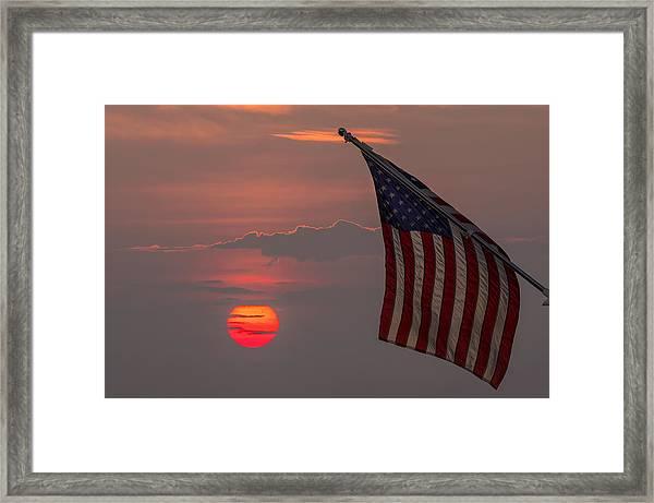 Patriotic Sunset Framed Print