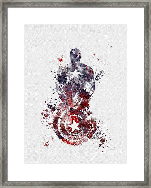 Patriotic Supersoldier Framed Print