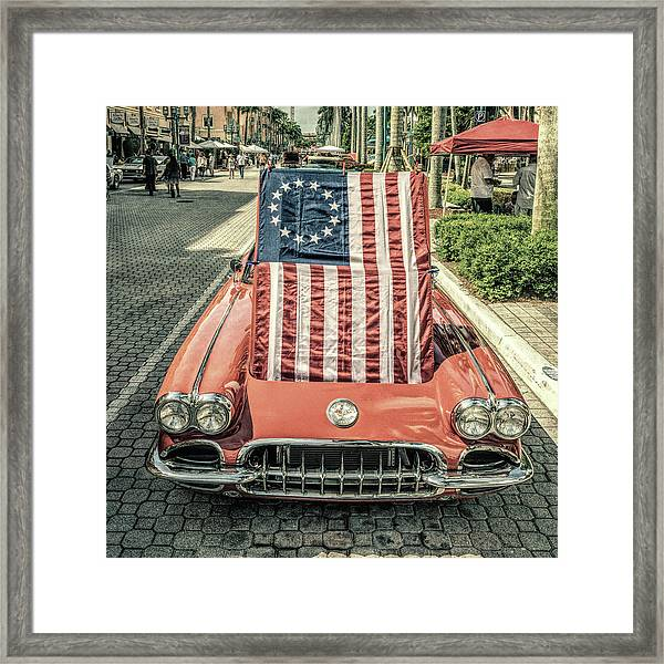Patriotic Vette Framed Print