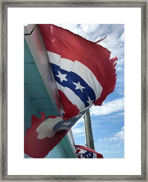 Patriotic Wave Framed Print