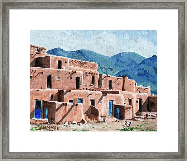 Patrolling The Pueblo Framed Print