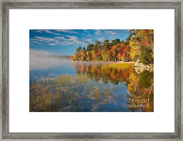 Framed Print featuring the photograph Patten Pond by Susan Cole Kelly