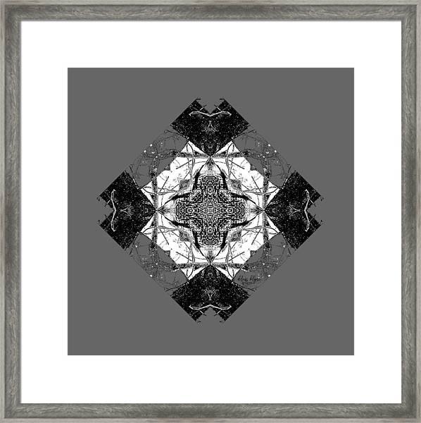 Pattern In Black White Framed Print