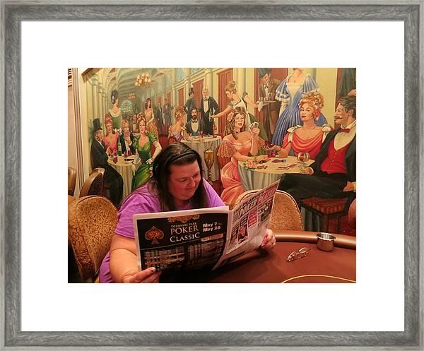 Pattie Poker Framed Print
