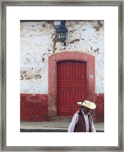 Patzcuaro Street Scene Framed Print