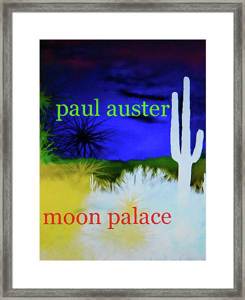 Paul Auster Poster Moon Palace Framed Print