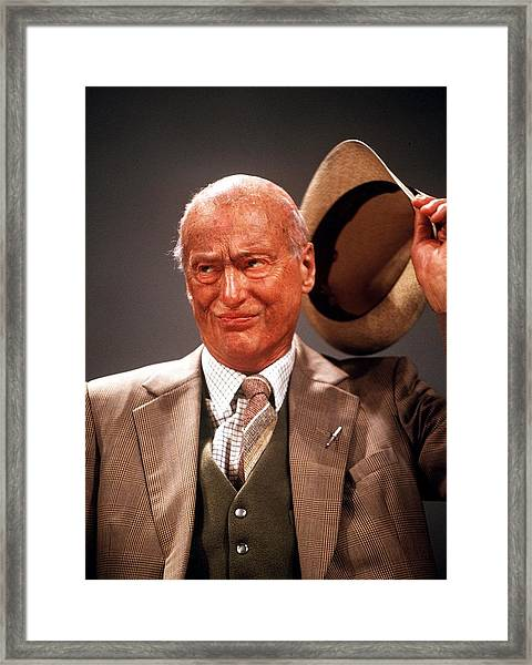 Paul Eddington Framed Print by Jez C Self