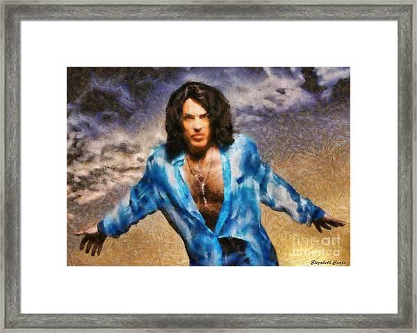 Paul Stanley Of Kiss Framed Print