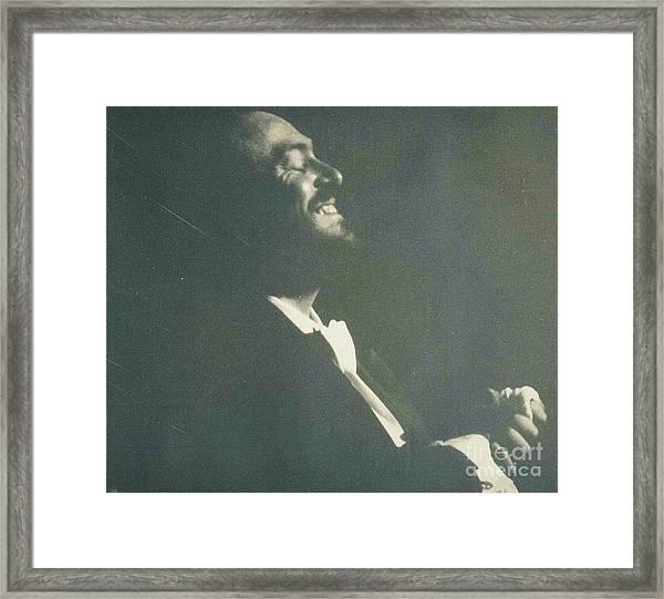 Pavarotti Accepts Applause Framed Print