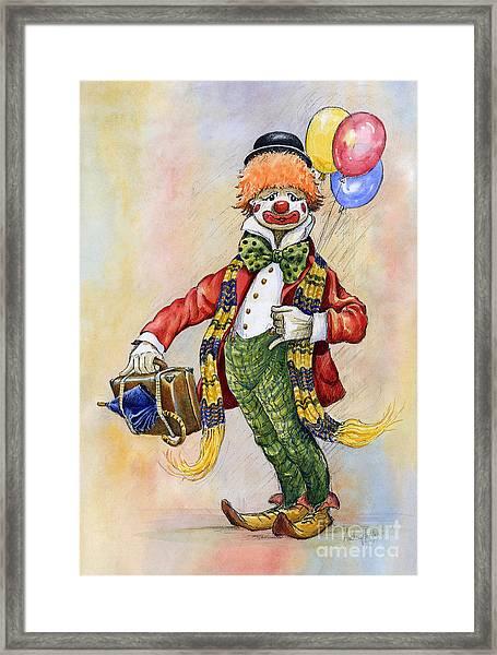 Pavlov The Clown Framed Print