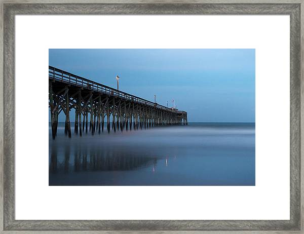Pawleys Island Pier During The Blue Hour Framed Print