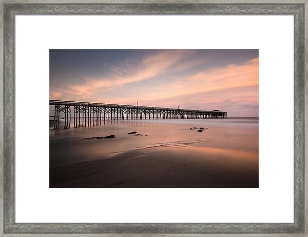 Pawleys Island Pier Sunset Framed Print