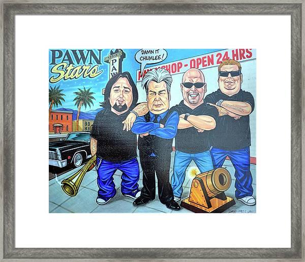 Pawn Stars In Las Vegas Framed Print