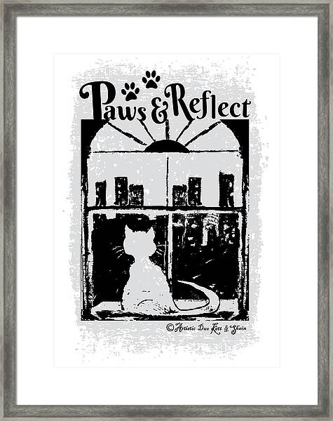 Paws And Reflect Framed Print