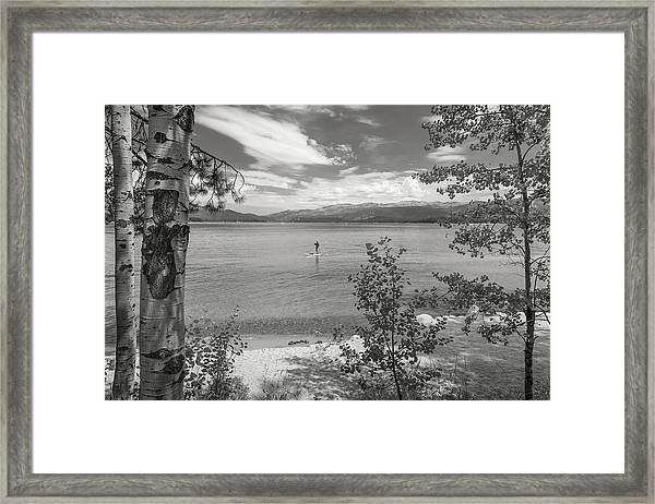 Payette Lake Boarder Framed Print