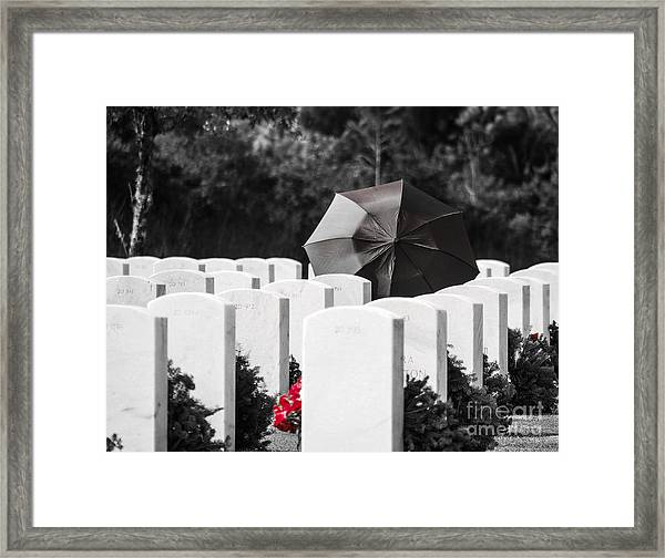 Paying Her Respects Framed Print
