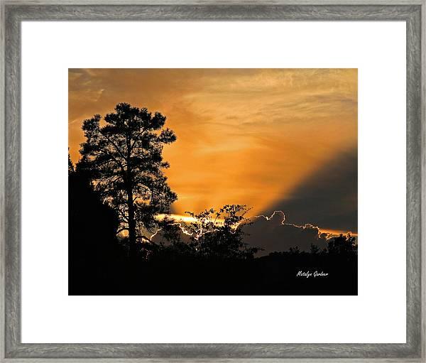 Payson Sunset Framed Print