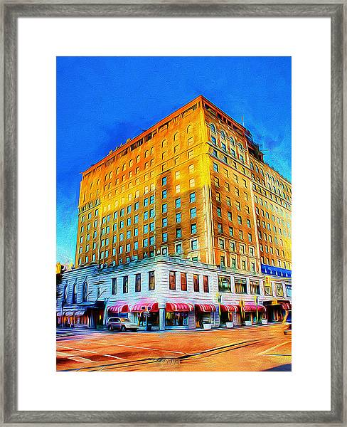 Framed Print featuring the photograph Peabody Hotel - Memphis by Barry Jones