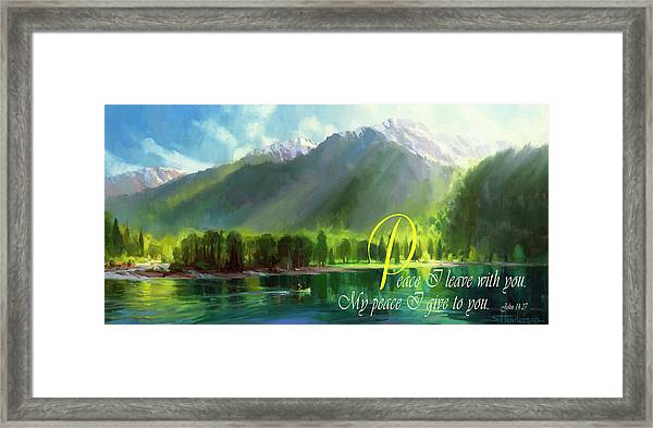 Peace I Give You Framed Print