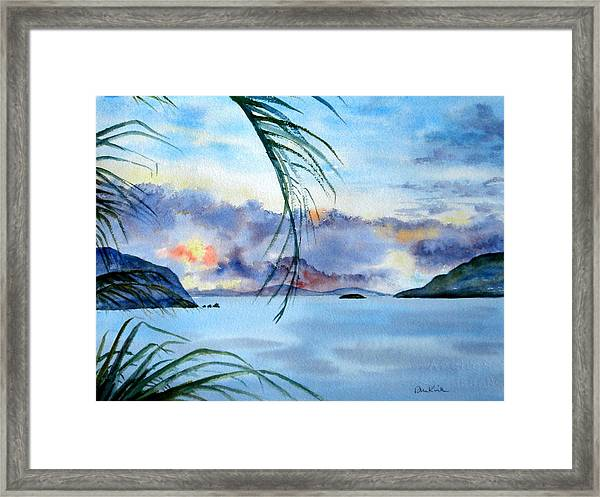 Peace In The Caribbean Framed Print