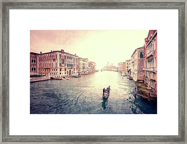 Peace In Venice Framed Print