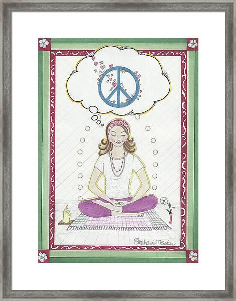 Peace Meditation Framed Print