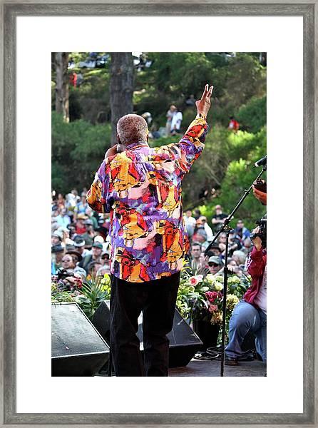 Peace N Love Framed Print