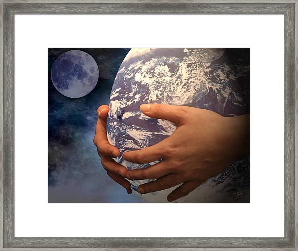 Peace On Earth Gaia Framed Print by Tom Romeo