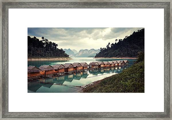 Peace On The Lake Framed Print