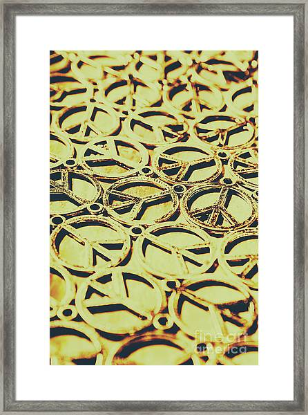 Peace Sign Patterns Framed Print