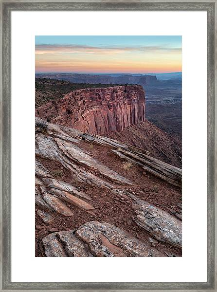 Peaceful Canyon Morning Framed Print