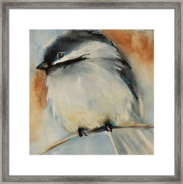 Peaceful Chickadee Framed Print