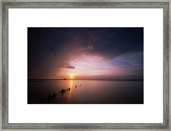 Peaceful End Framed Print