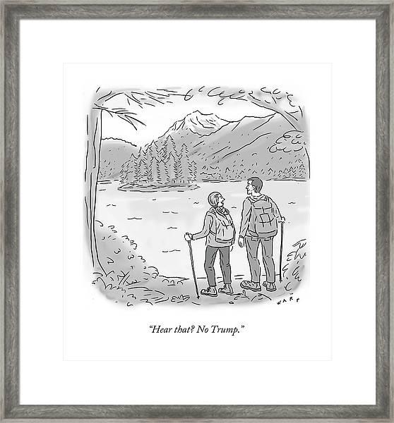 Peaceful Hikers Framed Print