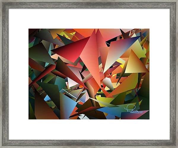 Peaceful Pieces Framed Print
