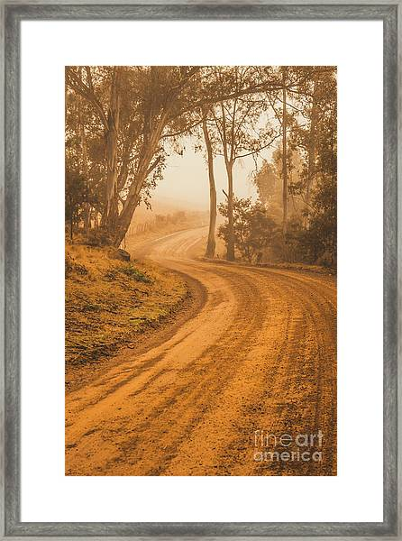 Peaceful Tasmania Country Road Framed Print