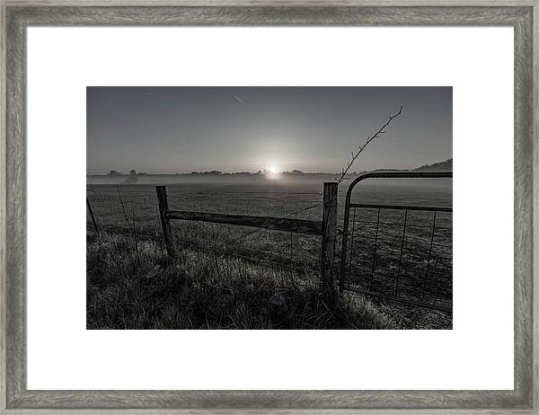 Peaceful View Framed Print
